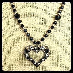 Jewelry - Heart Necklace Black